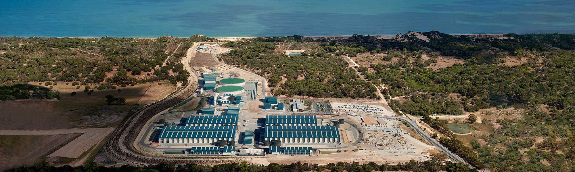 Picture of one of our two desalination plants