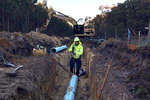 Denmark pipeline construction