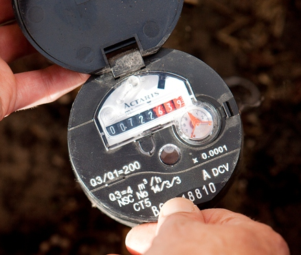 Photo of a water meter