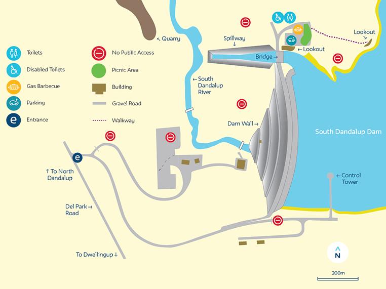Map of South Dandalup Dam