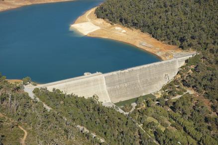 Aerial view of Victoria Dam